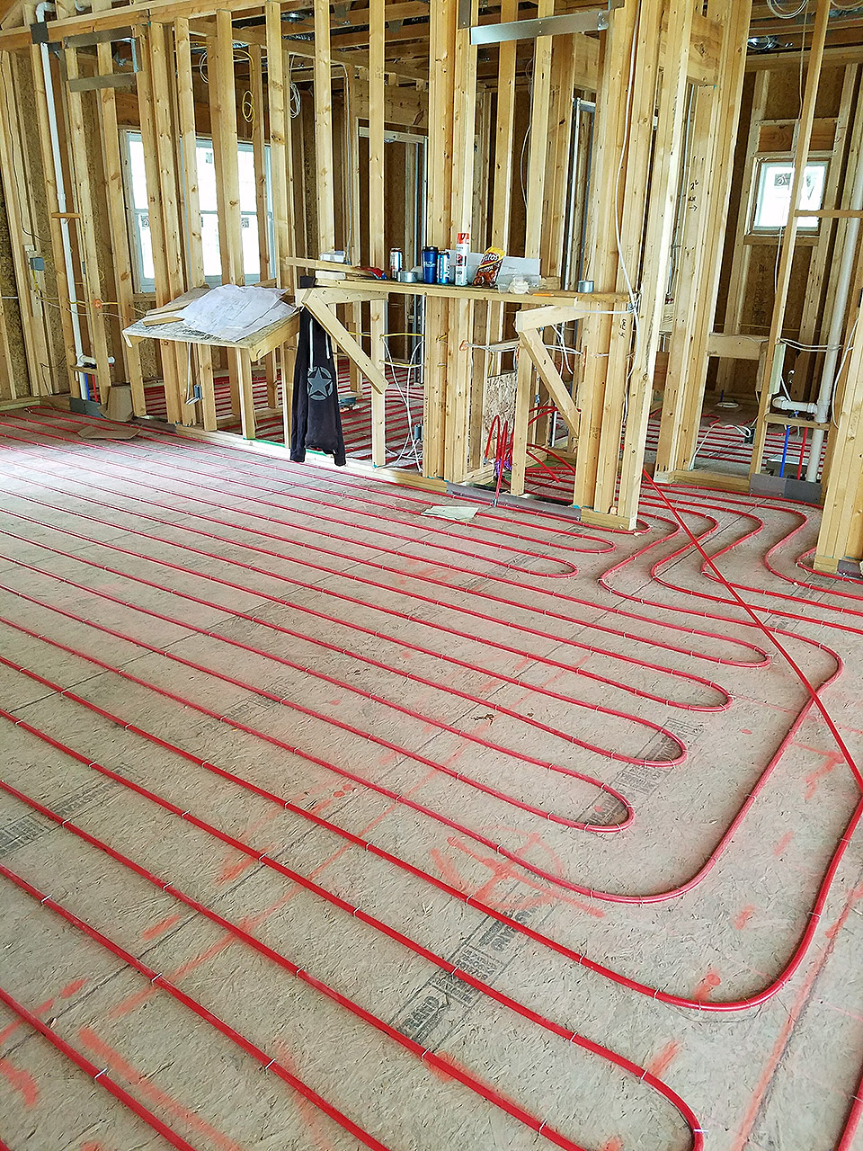 In floor radiant heating mechanical extremes for Warm floor