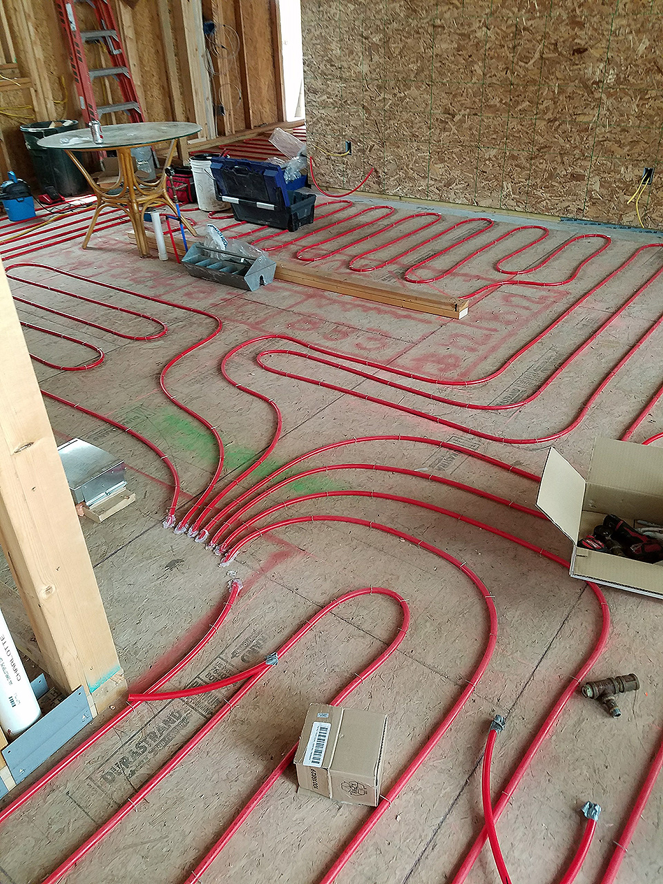In Floor Radiant Heating Mechanical